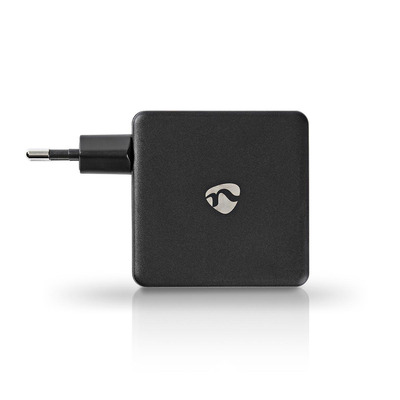 Nedis Thuislader, 3,0 A, USB (QC) / USB-C, Power Delivery 30 W, Zwart Oplader