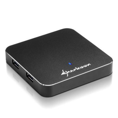 Sharkoon hub: 4-Port USB 3.0 - Zwart