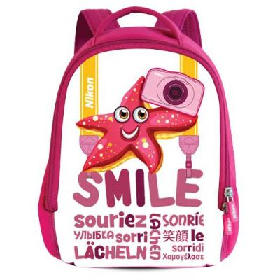 Nikon Backpack, Pink/White Cameratas - Roze, Wit