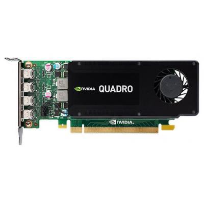 Dell videokaart: Nvidia Quadro K1200 - Zwart, Groen