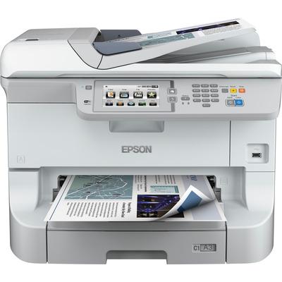 Epson WorkForce Pro WF‑8590 DTWFC Multifunctional - Zwart, Cyaan, Magenta, Geel