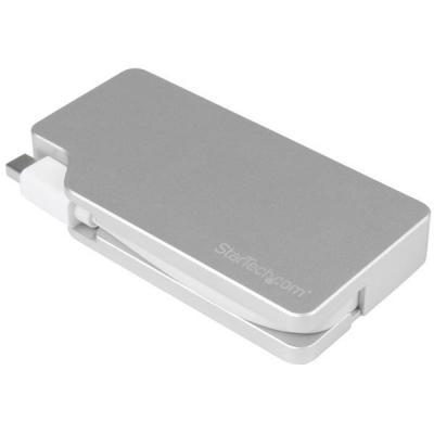StarTech.com 3-in-1 Mini DisplayPort-adapter naar VGA, DVI of HDMI Kabel adapter - Zilver