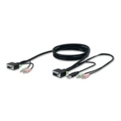 Belkin KVM kabel: Vervangende SOHO KVM-kabelset, VGA & USB, 3 m - Zwart