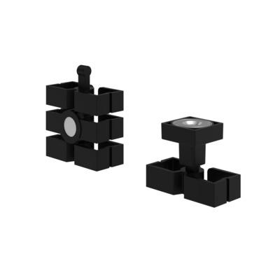 Dataflex Addit kabelworm zit-sta - magnetische montageset 383 Kabel beschermer