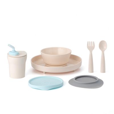 Miniware Little Foodie Set - Aqua-kleur,Grijs,Vanillekleur