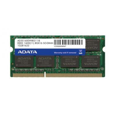 Adata RAM-geheugen: 8GB DDR3 - 1600 MHz