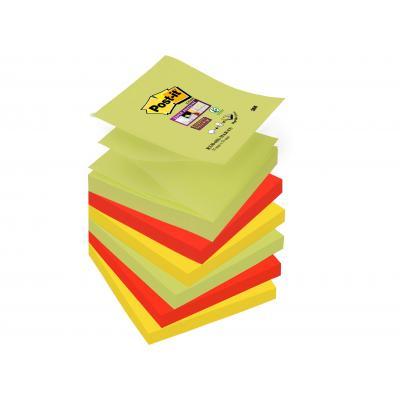 Post-it zelfklevend notitiepapier: 76x76mm, 6 Pads - Veelkleurig