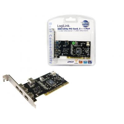 Logilink interfaceadapter: 4-port FireWire PCI Card