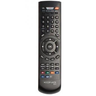 König afstandsbediening: PC programmable remote control 2:1 - Zwart