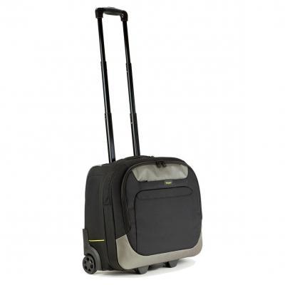 Targus laptoptas: 16 - 17.3 inch / 40.6 - 43.9cm XL City.Gear Rolling Laptop Case - Zwart, Zilver
