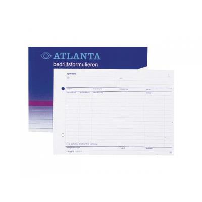 Atlanta telefoonberichten kussen of boek: Opdrachtformulier/blok 50