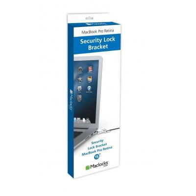 "Maclocks kabelslot: MacBook Pro Retina 15"" Bracket w/Wedge Lock - Zwart"