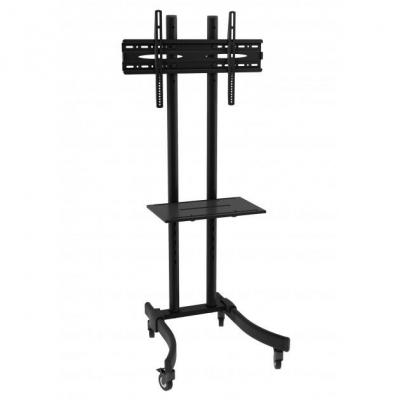 "Techly : Mobile TV Stand/Trolley for LED/LCD 32-70"" with shelf"