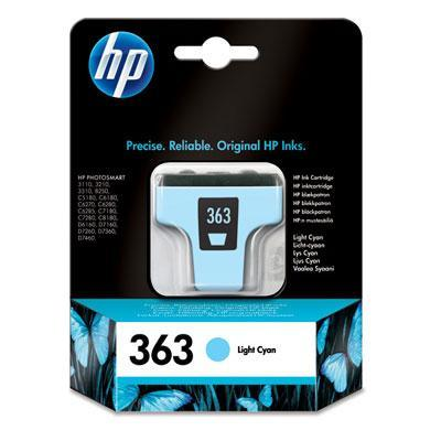 Hp inktcartridge: 363 originele licht-cyaan inktcartridge - Lichtyaan