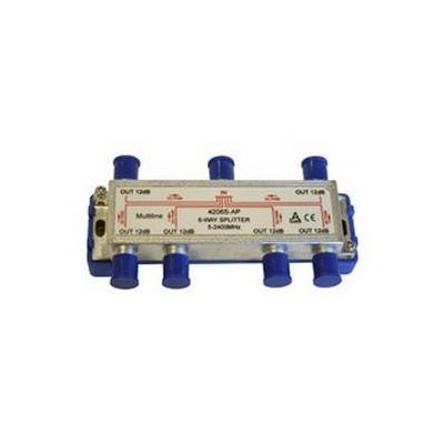 Maximum kabel splitter of combiner: Splitter 6 way 5-2250 MHz 6x DC