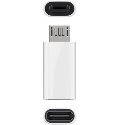 Microconnect USB 2.0 Micro-B to USB Type C Kabel adapter - Wit