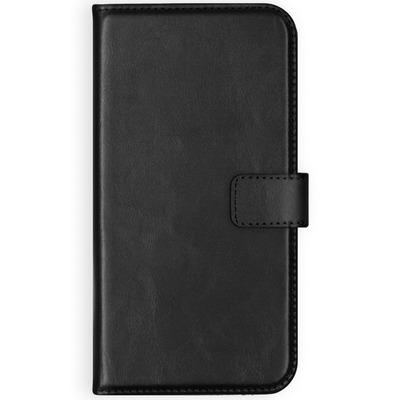 Echt Lederen Booktype Huawei Y6 (2018) - Zwart / Black Mobile phone case