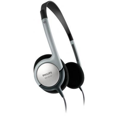 Philips koptelefoon: Lichte hoofdtelefoon SBCHL145/10 - Zwart, Zilver