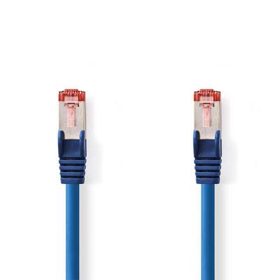 Nedis S/FTP, RJ45, CAT6, PVC LSZH, Copper, 6.2 mm, 1 m, Blue Netwerkkabel - Blauw