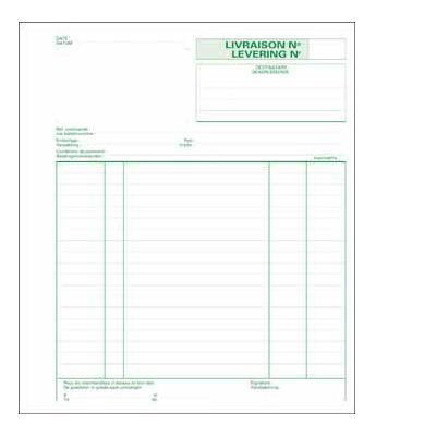 Exacompta bedrijfsformulier: LEVERING 21X18 TRIPLI 2T