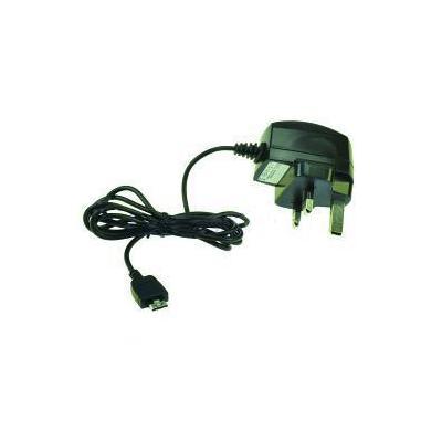 2-power oplader: Mobile Phone AC Adapter, 4.8-5.5V, 800mA, 230V, Black, UK - Zwart