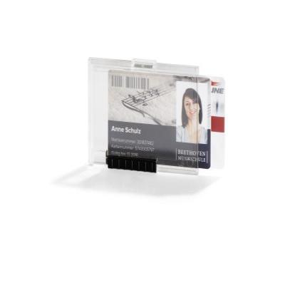 Durable badge: 892119 Card Holder PUSHBOX DUO (Transparent) Pack of 10 - Transparant