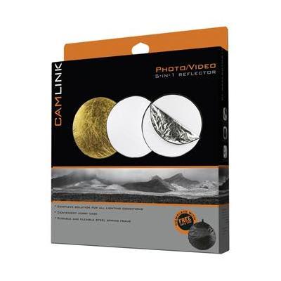 Camlink fotostudioreflector: CL-REFLECTOR10 - Zwart, Goud, Zilver, Doorschijnend, Wit