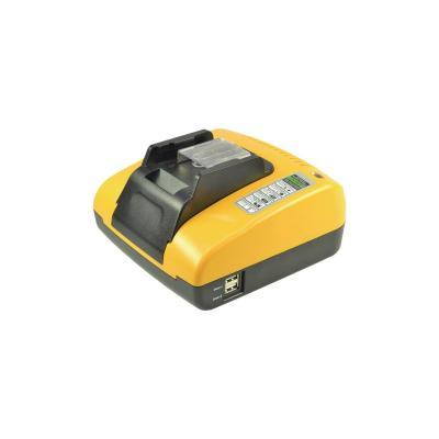 2-power oplader: Makita 14.4V Li-Ion Battery Charger, 110-240 V, 18 V, 3 A, 185 x 160 x 80 mm, 866 g - Zwart, Geel