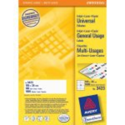 Avery Universal Labels, White 105x35mm Etiket