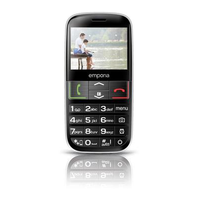 Emporia EUPHORIA mobiele telefoon - Zwart, Zilver