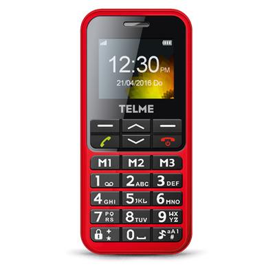 TELME C151 mobiele telefoon - Rood