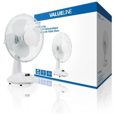 Valueline ventilator: Tafelventilator 23 cm 2 standen - Wit