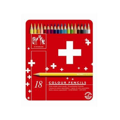 Caran d-ache potlood: Swisscolor Aquarel 18's - Multi kleuren, Rood