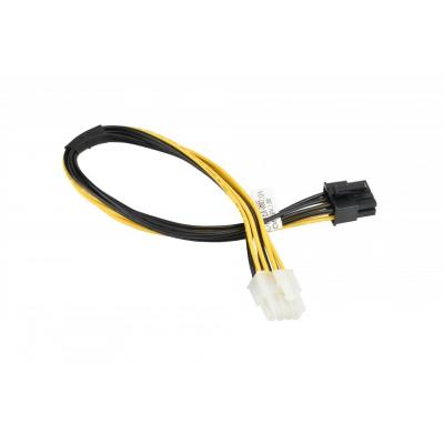 Supermicro 8-Pin PCIe/8-Pin CPU, 30cm, Black/Yellow - Zwart,Geel