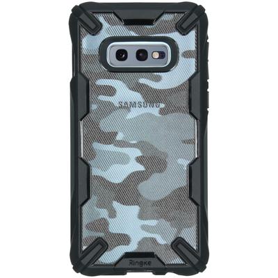 Ringke Fusion X Design Backcover Samsung Galaxy S10e - Camo Zwart - Camouflage Black Mobile phone case