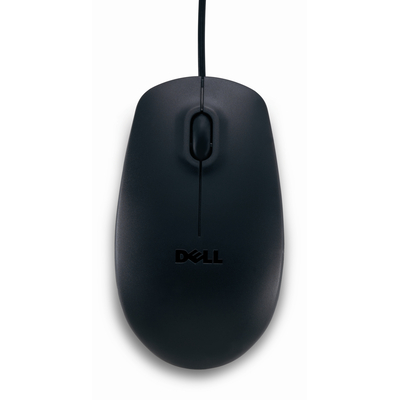 Dell computermuis: USB Optical Mouse - MS111 - black - Zwart