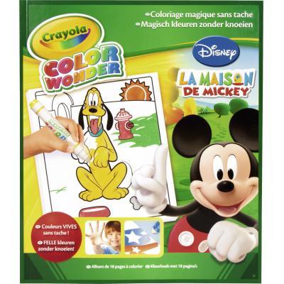 Crayola kleurplaat en boek: Color Wonder - Kleurboek Mickey 18blz.