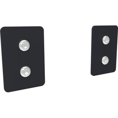 SmartMetals Set van 2 afdekplaatjes voor aluminium profiel, Zwart Muur & plafond bevestigings accessoire