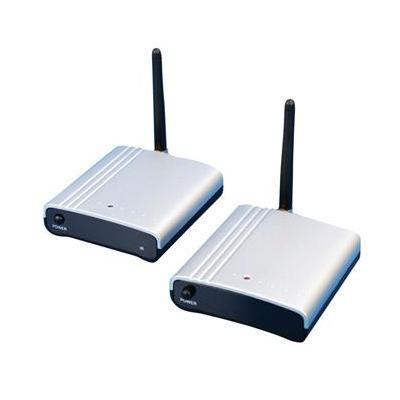 König AV extender: Audio/Video Transmitter, 2.4 GHz, 4 channels, 3.5mm, Black/Silver - Zwart, Zilver