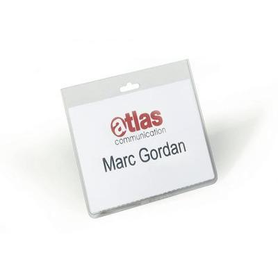 Durable Naam(gesloten versie) 60 x 90 mm (verpakking 20 stuks) Badge - Transparant