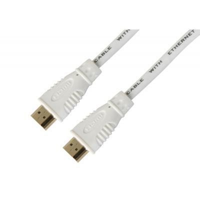 Techly High Speed HDMI with Ethernet cable, 3 m, White HDMI kabel