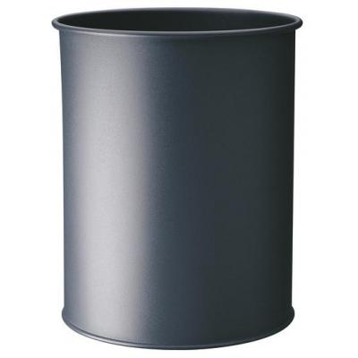 Durable prullenbak: Waste basket metal round 15 - Zilver