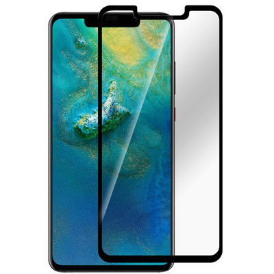 ESTUFF Huawei Mate 20 Pro Curved Blac Screen protector - Zwart, Transparant