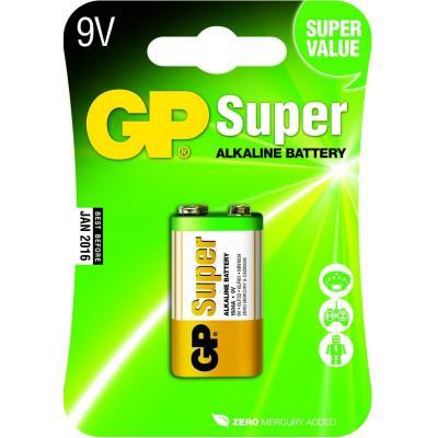 Gp batteries batterij: Super Alkaline 9V - Veelkleurig
