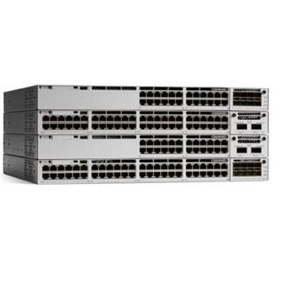 Cisco Catalyst 9300 48-port Gigabit Ethernet UPOE modular uplinks Network Advantage Switch - Grijs