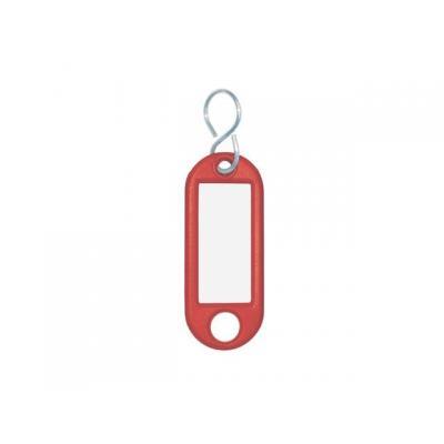 Wedo sleutehanger: Sleutellabel Rood, S-Ring, ø 15 mm (verpakking 10 stuks)