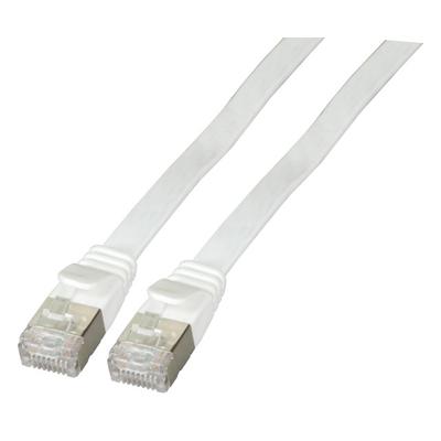 EFB Elektronik RJ45 Flat Patch cable U/FTP, Cat.6A, PVC, 0.25m, white Netwerkkabel - Wit