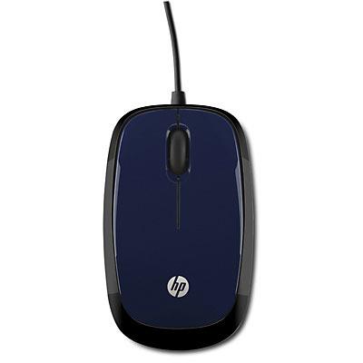 HP X1200 Computermuis - Zwart, Blauw