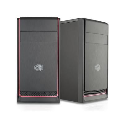 Cooler Master MasterBox E300L Behuizing - Zwart, Rood