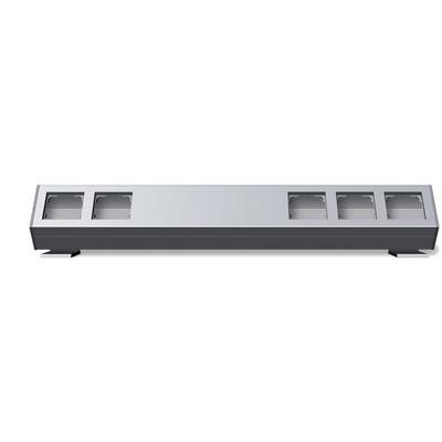 GIRA Profiel 55 met bevestigingshoek vijfvoudig 600 mm - Aluminium